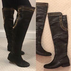 Betsey Johnson Black Studded 'Slayerr' Boots 7.5